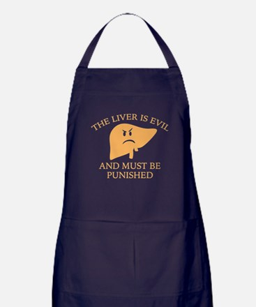 The Liver Is Evil Apron (dark)