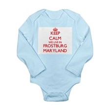 Keep calm we live in Frostburg Maryland Body Suit