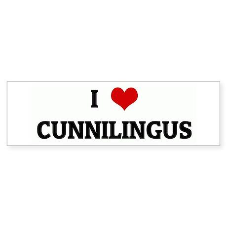 I Love CUNNILINGUS Bumper Sticker