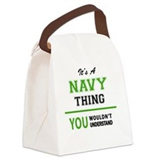Funny Navi Canvas Lunch Bag