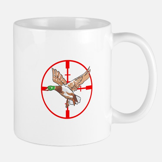 MALLARD DUCK IN CROSSHAIR Mugs