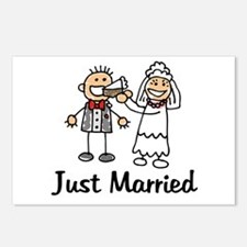 Just Married Cake Postcards (Package of 8)