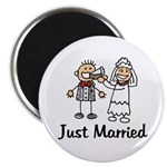 Just Married Cake Magnet