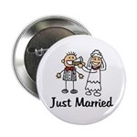 Just Married Cake Button