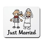 Just Married Cake Mousepad