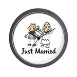 Just Married Cake Wall Clock