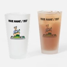 Custom Cafeteria Worker Drinking Glass