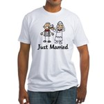 Just Married Cake Fitted T-Shirt