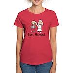 Just Married Cake Women's Dark T-Shirt