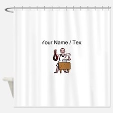 Custom Butcher Shower Curtain