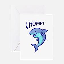 SHARK CHOMP Greeting Cards
