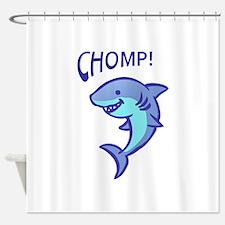 SHARK CHOMP Shower Curtain