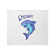 SHARK CHOMP Throw Blanket