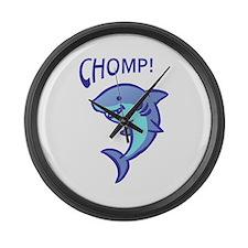 SHARK CHOMP Large Wall Clock