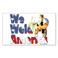 We Weld America Rectangle Decal