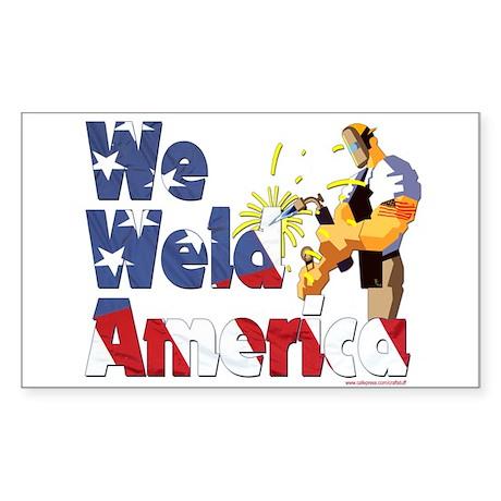 We Weld America Rectangle Sticker