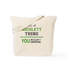 Cute Nicolette Tote Bag