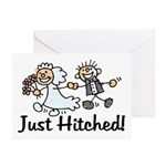Just Hitched Greeting Cards (Pk of 10)