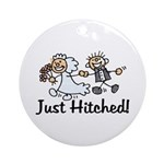 Just Hitched Ornament (Round)
