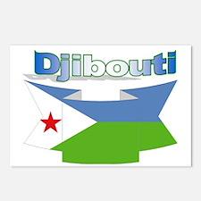 Djibouti ribbon Postcards (Package of 8)