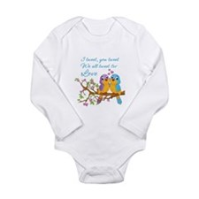 Tweeting For Love- Long Sleeve Infant Body Suit