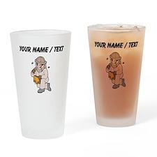 Custom Bee Keeper Drinking Glass