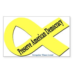 Preserve American Democracy Car Decal