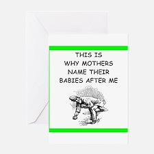 bocce joke Greeting Cards