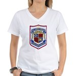 USS JOSEPH STRAUSS Women's V-Neck T-Shirt