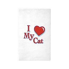 I HEART MY CAT Area Rug
