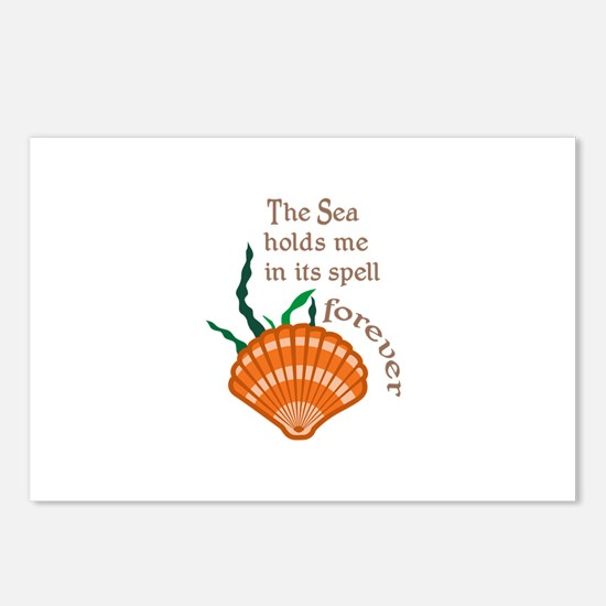 SEA HOLDS ME IN ITS SPELL Postcards (Package of 8)