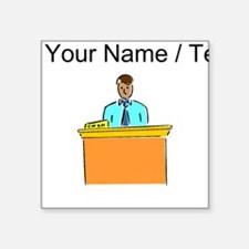 Custom Bank Teller Sticker