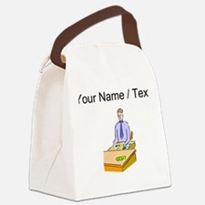 Custom Bank Teller Canvas Lunch Bag