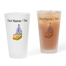 Custom Bank Teller Drinking Glass