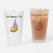 Custom Bank Teller Drinking Glass