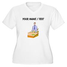 Custom Bank Teller Plus Size T-Shirt
