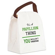 Cute Papillion Canvas Lunch Bag