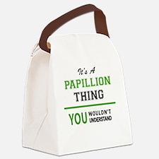 Funny Papillion Canvas Lunch Bag