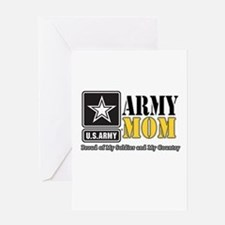 Army Mom Proud Greeting Cards