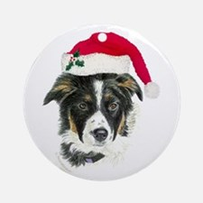 Border Collie Ornament (Round)