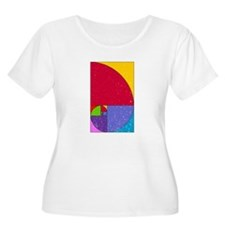 Fibonacci Pop Art Plus Size T-Shirt