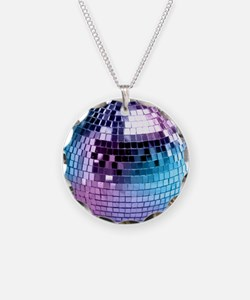 Disco Ball Graphic Necklace