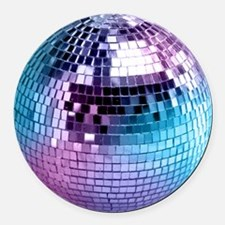 Disco Ball Graphic Round Car Magnet