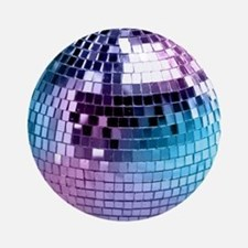Disco Ball Graphic Ornament (Round)