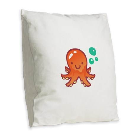 CUTE OCTOPUS Burlap Throw Pillow by greatnotions8