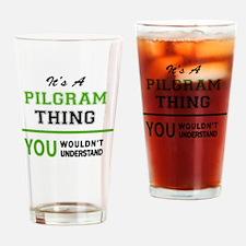 Cute Pilgrams Drinking Glass