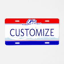 Ohio Custom Aluminum License Plate