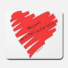 Whippet Love on 4 Legs Mousepad