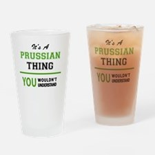 Funny Prussian Drinking Glass
