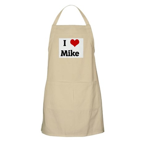 I Love Mike BBQ Apron